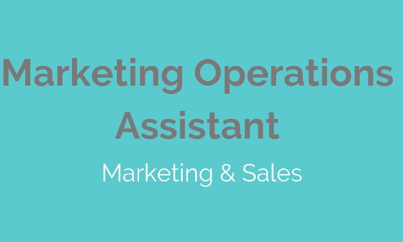 JOB Marketing - Marketing Ops Assistant