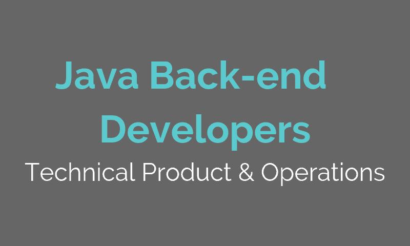 JOBS IT - Java back-end developers