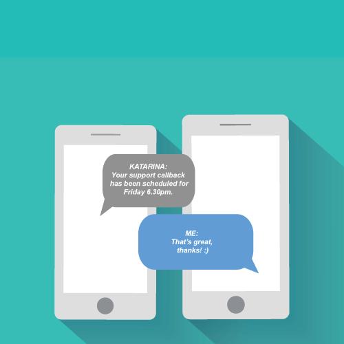sms conversation call center