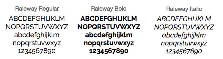 raleway typeface