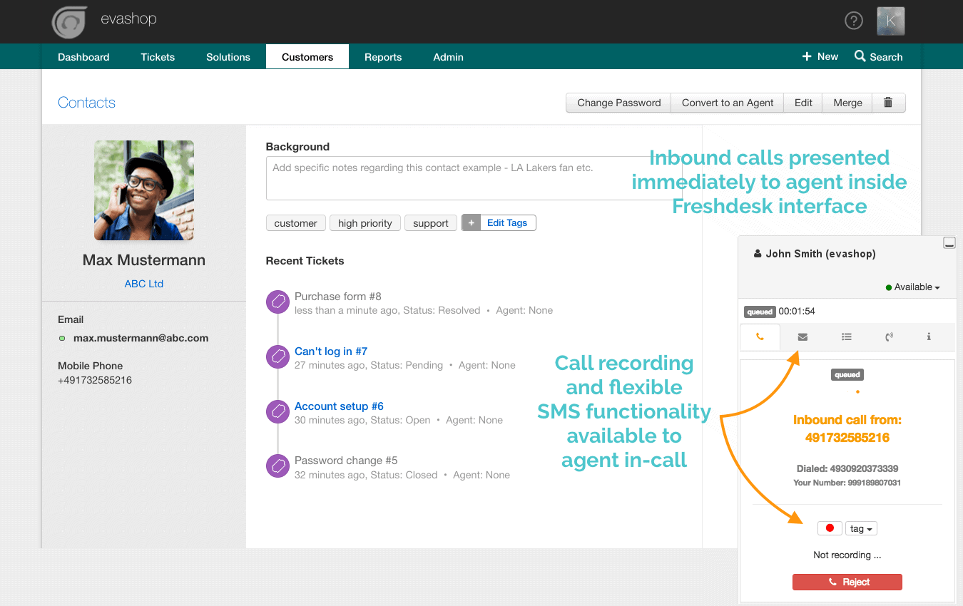 Freshdesk Inbound Call Integration