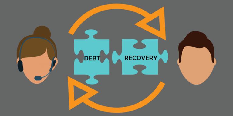 Debt collection calls with a dialer