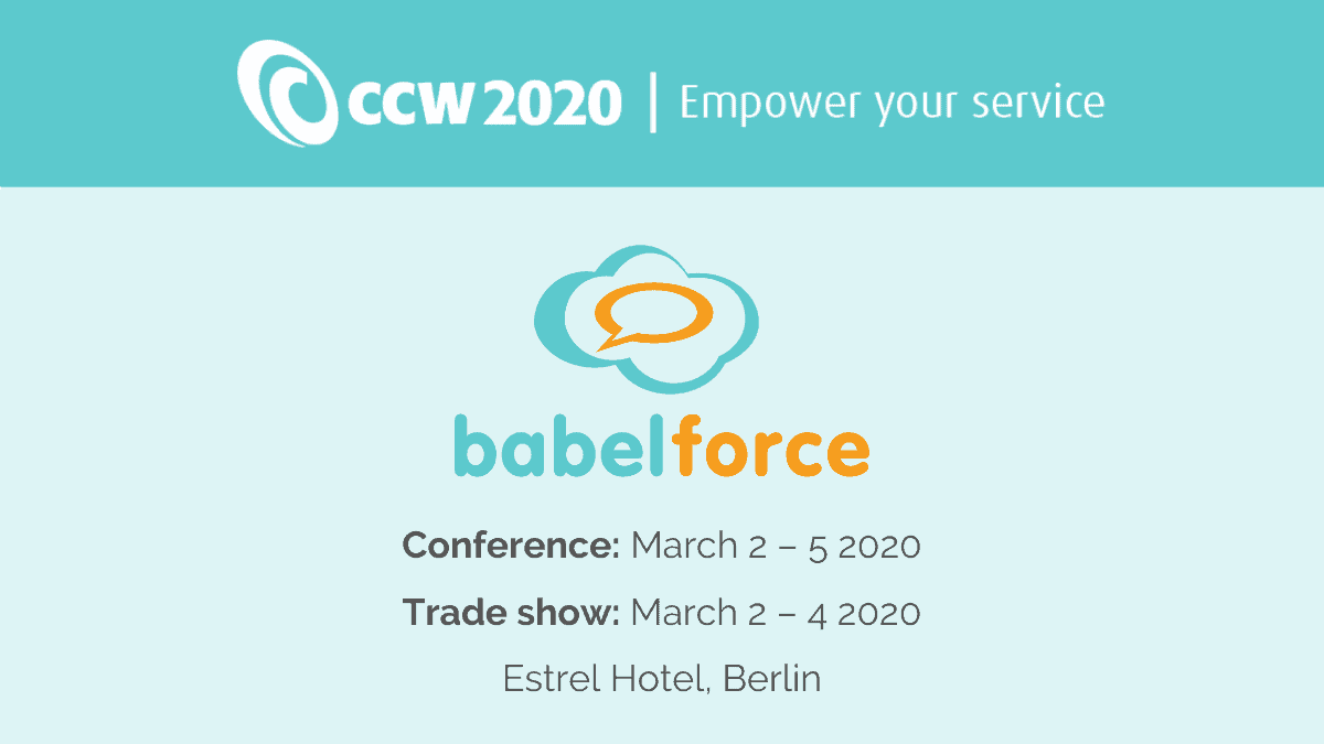babelforce at CCW2020