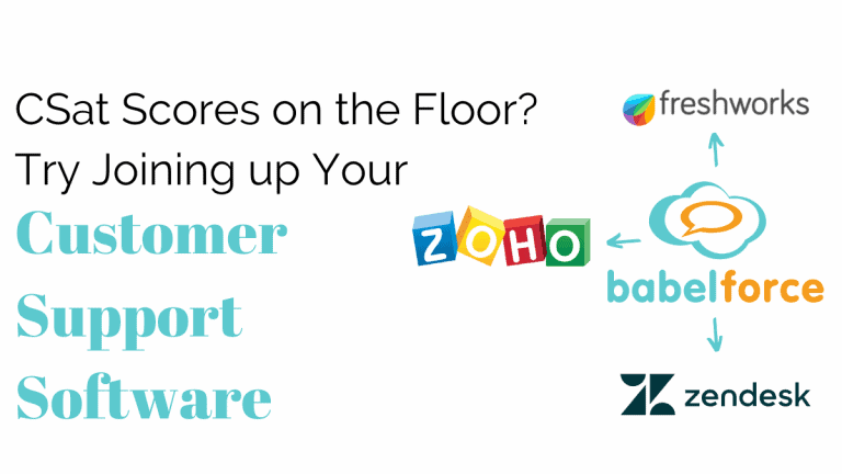 CSat Scores on the Floor? Try Joining up Your Customer Support Software