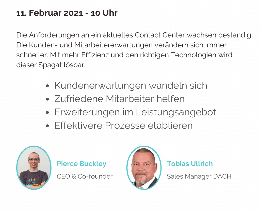 Live demo - Optimierung im Contact Center