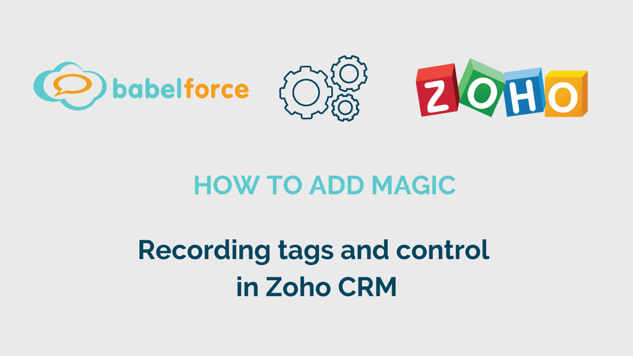 Add magic Control and tag recording in Zoho