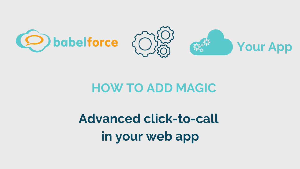 Add magic video_click-to-call in your web app