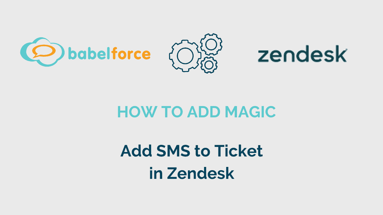 Add magic video_Add SMS to ticket in Zendesk