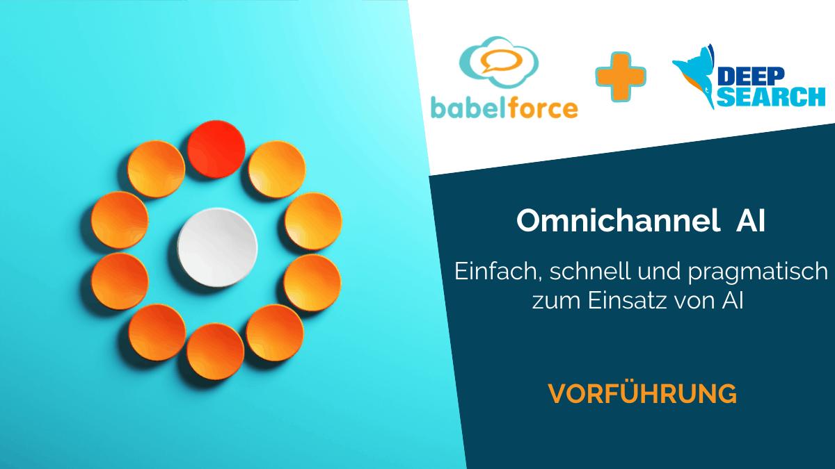 Deepsearch babelforce 06.05 Omnichannel AI Demo