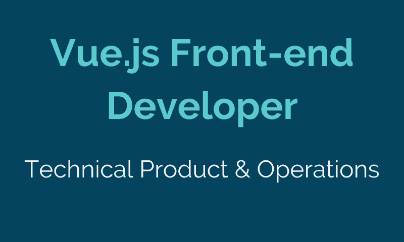 Vue.js Front-end Developer