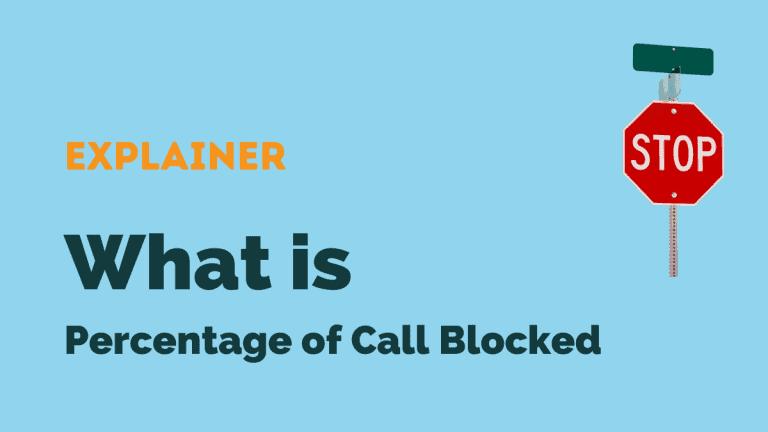 percentage of calls blocked