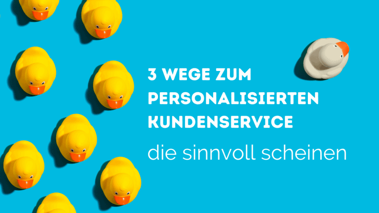 personalized service