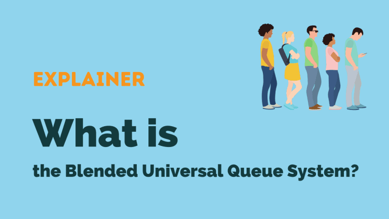 blended universal queuing system